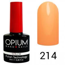 Гель-лак OPIUM №214 (Оранжевая пастель), 8 мл