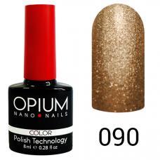Гель-лак OPIUM №90 (Коричнево-золотой песок), 8 мл