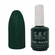 Гель лак YRE № 53 (темно-зеленый), 15 мл
