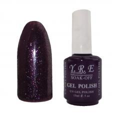 Гель лак YRE № 141 (фиолетовый с розовым шиммером), 15 мл