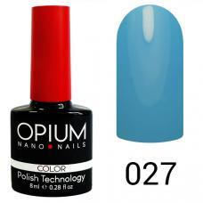 Гель-лак OPIUM №27 (небесно голубой), 8 мл