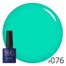 Гель-лак NUB № 076 (салатово-зеленый)