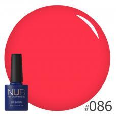 Гель-лак NUB № 086 (красный коралл)