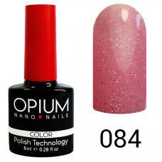 Гель-лак OPIUM №84 (Ярко розовый с песком), 8 мл