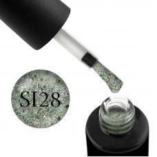 Гель-лак Naomi Self Illuminated SI 28 (светло-зеленый с блестками, слюдой и зелеными конфетти), 6 мл