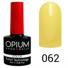 Гель-лак OPIUM №62 (Пастельно желтый), 8 мл