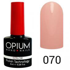Гель-лак OPIUM №70 (Нежно розовый), 8 мл
