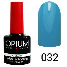Гель-лак OPIUM №32 (ярко голубой), 8 мл