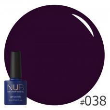 Гель-лак NUB № 038 (темно-фиолетовый)