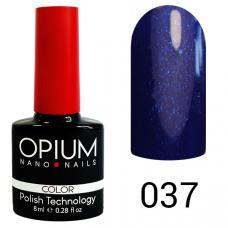 Гель-лак OPIUM №37 (темно синий с шимиром), 8 мл