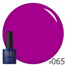 Гель-лак NUB № 065 (яркий пурпурный)