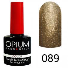 Гель-лак OPIUM №89 (Платиновый песок), 8 мл