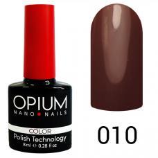 Гель-лак OPIUM №10 (темный шоколад), 8 мл