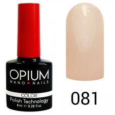 Гель-лак OPIUM №81 (Перламутрово розовый), 8 мл
