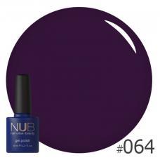 Гель-лак NUB № 064 (глубокий фиолетовый)