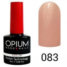Гель-лак OPIUM №83 (Нежно-розовый с перламутром), 8 мл