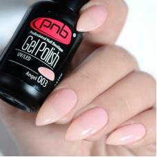 Гель лак PNB №003 (полупрозрачный нежно-розовый, эмаль)
