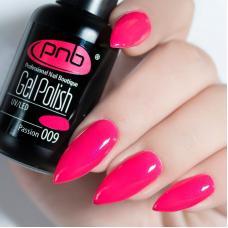 Гель лак PNB №009 (малиново-розовый, эмаль)
