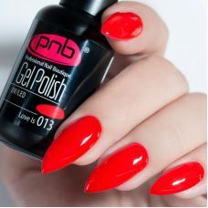 Гель лак PNB №013 (темно-красный, эмаль)