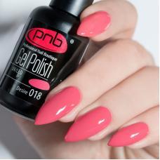 Гель лак PNB №018 (темный розовый, эмаль)