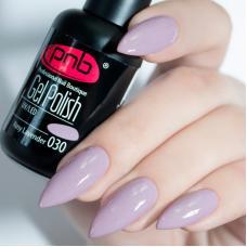 Гель лак PNB №030 (пастельный лилово-розовый, с микроблеском)