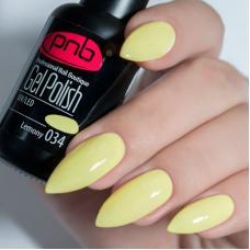 Гель лак PNB №034 (лимонный, эмаль)