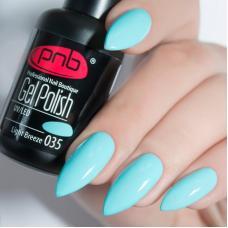 Гель лак PNB №035 (светлый мятно-бирюзовый, эмаль)