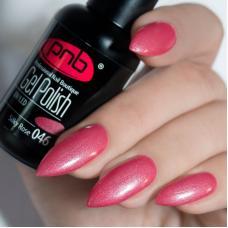 Гель лак PNB №046 (темно-розовый, с перламутром)