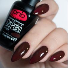 Гель лак PNB №049 (темный коричнево-бордовый, эмаль)