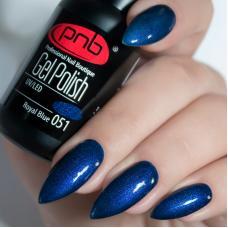 Гель лак PNB №051 (темно-синий, с микроблеском)