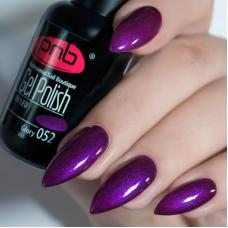 Гель лак PNB №052 (насыщенный фиолетовый, эмаль )