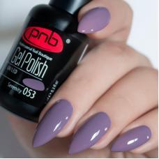Гель лак PNB №053 (сиренево-серый, эмаль)