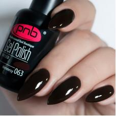 Гель лак PNB №063 (черный шоколад, эмаль)