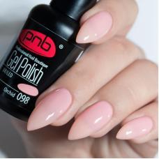 Гель лак PNB №098 (нежно-розовый, эмаль)