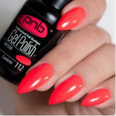 Гель лак PNB №112 (яркий розово-коралловый неоновый, эмаль)