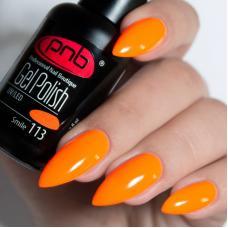Гель лак PNB №113 (ярко-оранжевый неоновый, эмаль)