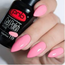 Гель лак PNB №119 (пастельный розово-персиковый, эмаль)