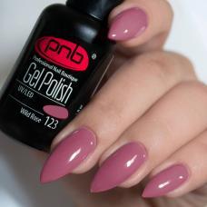 Гель лак PNB №123 (тусклый розовый, эмаль)