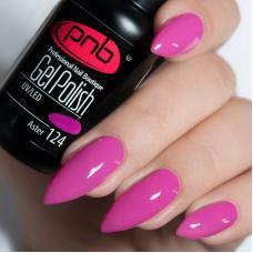 Гель лак PNB №124 (темно-розовый, эмаль)