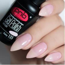 Гель лак PNB №135 (холодный нежно-розовый, эмаль)