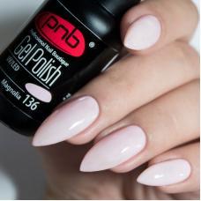 Гель лак PNB №136 (светлый нежно-розовый, эмаль)