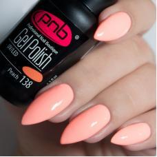Гель лак PNB №138 (розово-персиковый, эмаль)