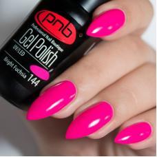 Гель лак PNB №144 (розовая фуксия, эмаль)