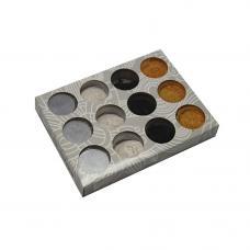 Втирка хром, цвет на выбор (мокрый асфальт,серебро) 1шт