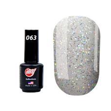 Гель лак My Nail № 063 (серебряное голограммное сияние), 8.5 мл