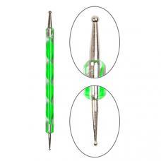 Дотс для рисования YRE Nail Art Dotting зеленый, 1 шт.