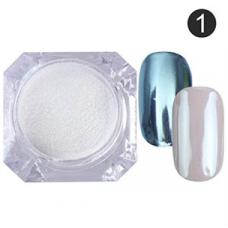 Жемчужная втирка для ногтей №1 (серебро)