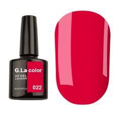 Гель-лак G.La color № 022 10ml (малиново-красный, эмаль)