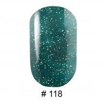 Гель-лак G.La color № 118 10ml ( зеленая бирюза с шиммерами)