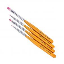Набор кистей для рисования Yre Nail Art Brush, желтые, 4 шт.